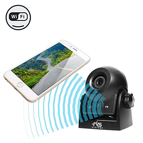 WiFi Magnetic Hitch Camera for Easy Hitching of Trailers, Travel Trailers and Fifth Wheels   RVS-83112-WiFi   Rear View Safety