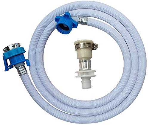 KS Home Applainces 4 Meter PVC Flexible Washing Machine Water Inlet/Inflow Hose Pipe with 2 Type Tap Adapters/Connectors for Front & Top Load Fully Automatic Washing Machines (Length:4 Meter)