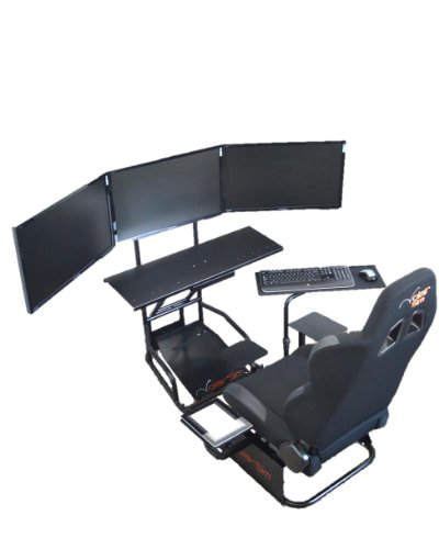 Volair Sim Universal Flight or Racing Simulation Cockpit Chassis with Triple Monitor Mounts 1