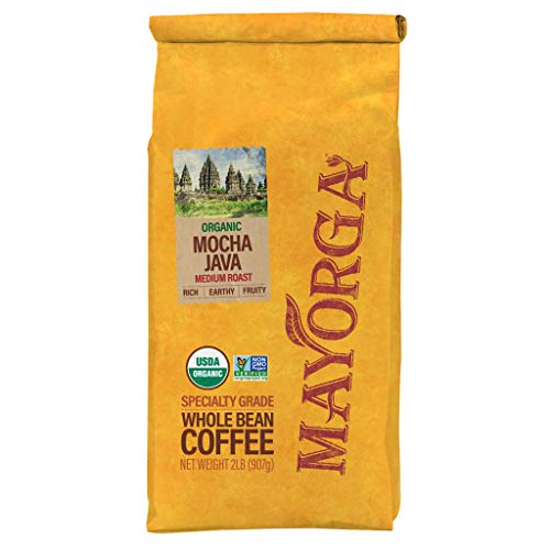 Mayorga Organics Mocha Java, 2lb Bag, Medium Roast Whole Bean Coffee, Specialty-Grade, 100% USDA Organic, Non-GMO Verified, Direct Trade, Kosher 1