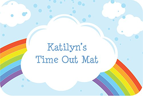 Personalized Time Out Mat - Calm Down Rug - Child Discipline Tool - Rainbow