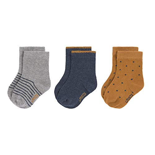 Lssig Socks Gots 3 Pcs. Assorted Blue, Size: 19-22 Calzini, 22 Unisex-Bimbi
