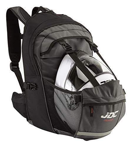JDC Sac à Dos Moto étanche 24 L avec Espace pour Le Casque, Extensible à 36 L – Frontier