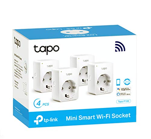 TP-Link Tapo P100 (4-pack) - WiFi Enchufe Inteligente Mini...