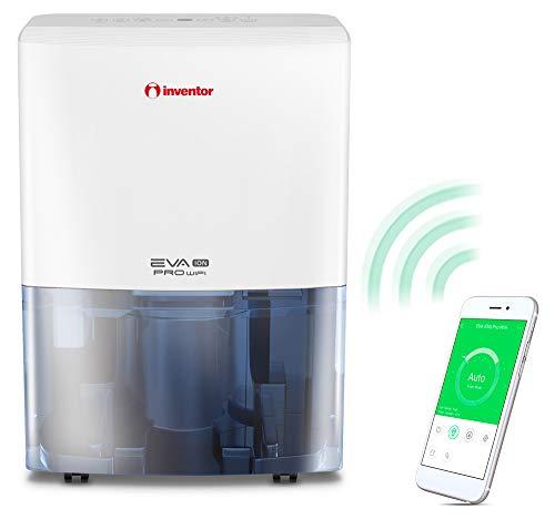 Inventor Eva ION PRO WiFi, Deumidificatore 20L/24h (Adatto fino a 70m2), WiFi, Ionizzatore, Filtro Hepa e Filtro ai Carboni Attivi, Deumidificazione Intelligente, Asciugabiancheria