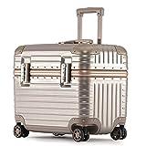 Contraseña Maletín Oficina de Viajes pequeña maleta de la caja de la carretilla Conveniente for fotográfico Clasificación Archivo Equipo informático cabina ( Color : Brown , Size : 54*30*34cm )