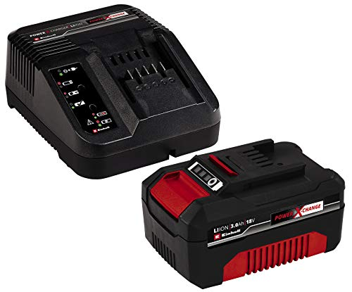 Einhell 4512041 Starter Kit Batteria e Caricabatterie Power X-Change (Ioni di Litio, 18 V, Batteria...