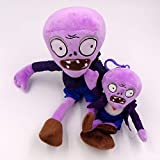TavasHome Plants VS Zombies 2 PVZ Figures Plush Toys Set,Stuffed Soft Game Doll - Purple Zombie and A Baby Zombie