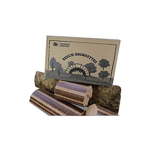 Normandy Briquettes - Bricchette di faggio, 12kg, per stufa e forno a legna per pizza, tronchi...