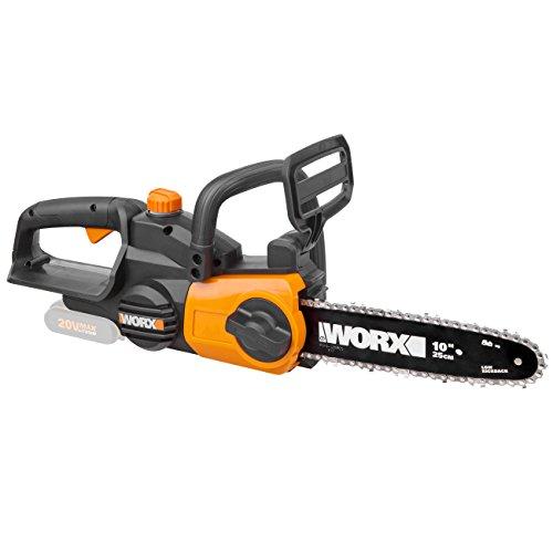 WORX WG322E.9 Akku Kettensäge 20V – Praktische Holzsäge für Einsätze im Garten & Bauarbeiten - mit 25 cm Schnittlänge & automatischer Kettenspannung