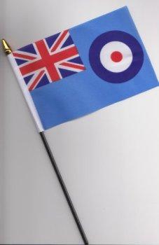 RAF Royal Air Force Hand Flag 25cm