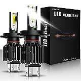 Paire Ampoules de phares avant de voiture à LED H4 Led lumière de voiture...