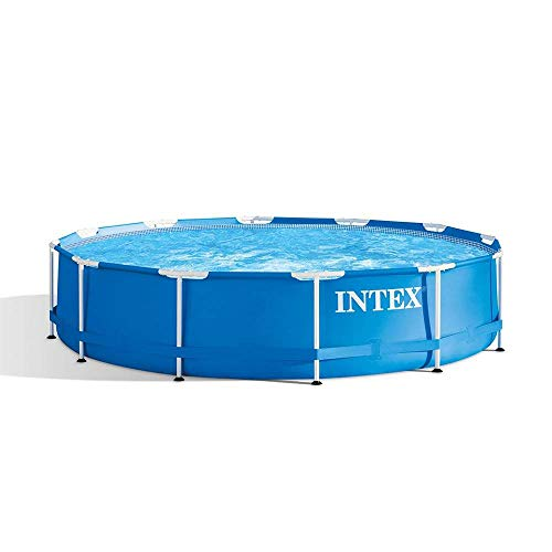 Intex 28210EH 12 Foot x 30 Inch Above Ground Swimming Pool That Fits up to 6 People with Easy Set-Up (Pump Not Included)