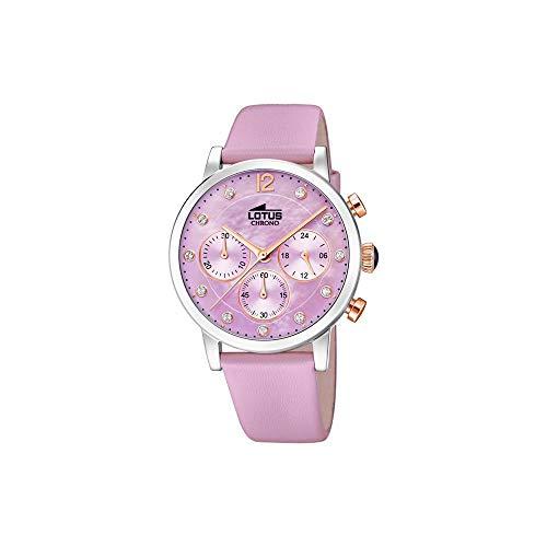 Lotus Damen Chronograph Quarz Uhr mit Leder Armband 18674/4