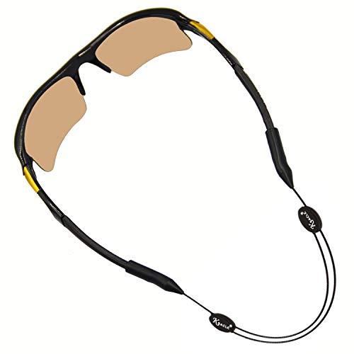 KSACLE Premium Sunglass Strap - Adjustable No Tail Sports Sunglasses Retainer - Eyewear Retainer for Your Sunglasses, Eyeglasses, or Prescription Glasses (Black) - Durable & Comfortable