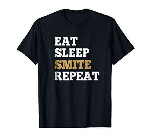 Eat Sleep Smite Repeat - Shirt for RPG Roleplaying Gamers