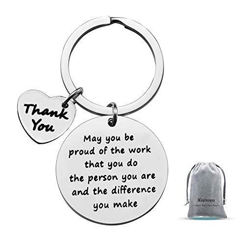 Thank You Gifts Appreciation Keychain Make a Difference...