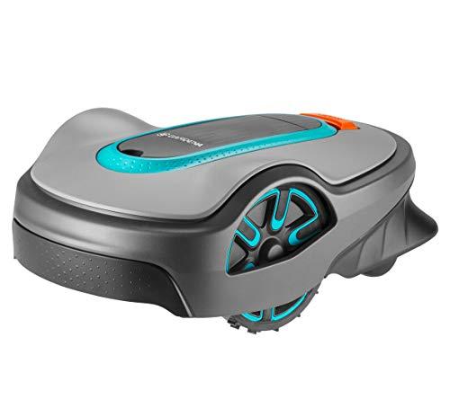 GARDENA SILENO life 750 | Tondeuse Robot jusqu'à 750m² - Tond sous la pluie et passages étroits, Bluetooth App, Capteur de gel, Très silencieux, Automatique - Robot de tonte Pelouse (15101-26)
