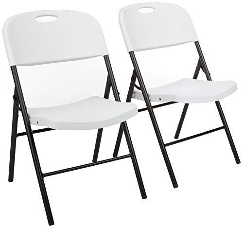 Amazon Basics Folding Plastic Chair, 350-Pound...