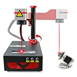 DATOUBOSS 20W Fiber Laser Marking Machine Fiber Laser Engraving Machine with 80mm Rotary for Ring/Metal/Wood/Jewelry Laser Engraver Tool (20W 110V, 200×200mm+80 Rotary)