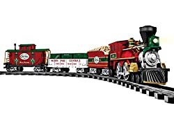 Set Includes: Battery-powered General-style locomotive and tender, Gondola with crate load, Center-cupola caboose, 24 curved and eight straight plastic track pieces, RC remote control Locomotive Features: Authentic train sounds, including bell and wh...
