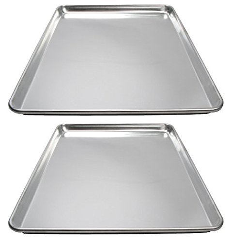 Winware ALXP-1826 Commercial Full-Size Sheet Pans, Set of 2 (18-Inch x 26-Inch, Aluminum)
