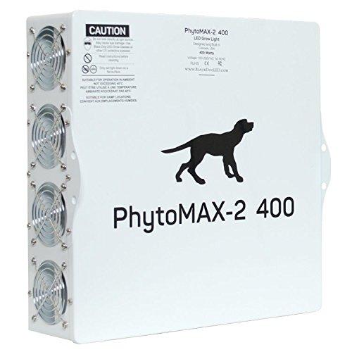 Black Dog LED PhytoMAX-2 400 | LED Grow Lights | High Yield Full Spectrum Indoor Grow Light with Bonus Quick Start Guide