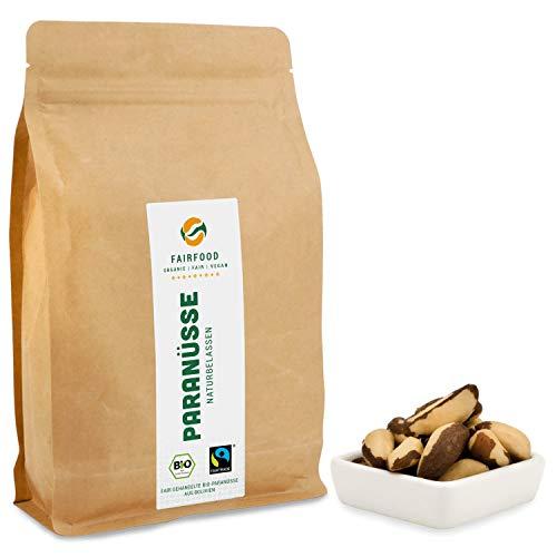 Bio Fairtrade Paranüsse: Naturbelassen (500g) aus Kooperative in Bolivien   Faire Nüsse aus Wildsammlung