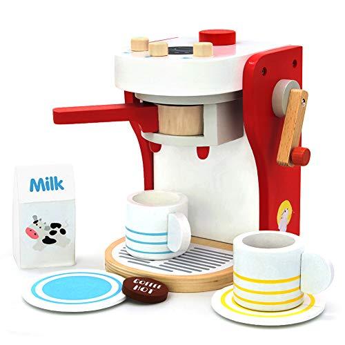 yoptote Giochi in Legno Cucina Giocattoli per Bambini 2 3 4 Anni Giochi Bambino Montessori Accessori Cucina Macchina Caffe Regalo Bimba 2 3 4 Anni