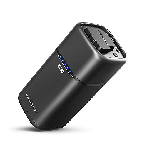 AC Portable Laptop Charger RAVPower 20100mAh AC Outlet Power Bank 65W(Max) External Battery Pack Travel Charger Compatible for MacBook,Surface Pro,Dell XPS 13, iPhone 11, iPhone Xs, Galaxy S9, Note 8