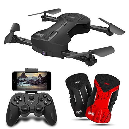Skye Drone, Drone Pieghevole con La Macchina Fotografica, 500W HD WiFi FPV Trasmissione in Diretta,...