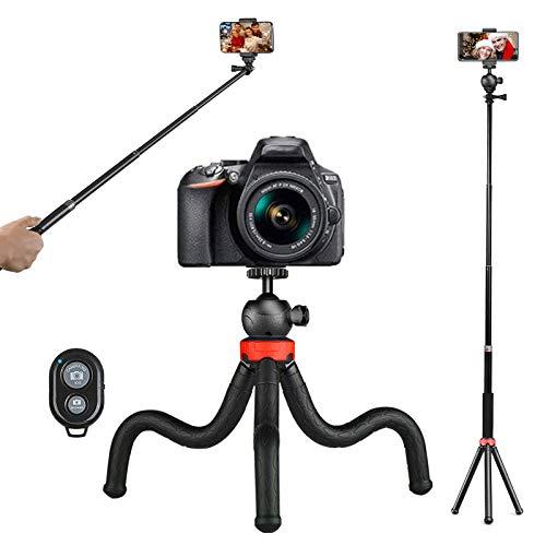 Perche Selfie Trépied,Tripod,Flexible Trepied Smartphone, Mini Trepied...