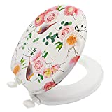 Ginsey Home Solutions Ginsey Soft Padded Plastic Hinges, Rose Birds Round Toilet Seat, Other