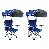 Kelsyus Kids Original Folding Backpack Foldable Lounge Outdoor Lawn Chair with Arm Rest and 50+ UPF...