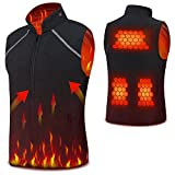 Electric Heated Vest Vinmori Washable Size Adjustable Fleece Soft Texture USB Heated Clothing for Motorcycle Snowmobile Bike Riding Hunting Golf (Battery Not Included)