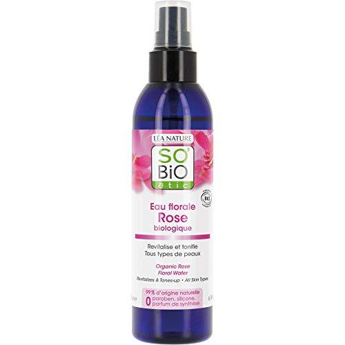 So'Bio Étic Eau Florale de Rose Bio tous types de peaux 200 ml Lot de 2