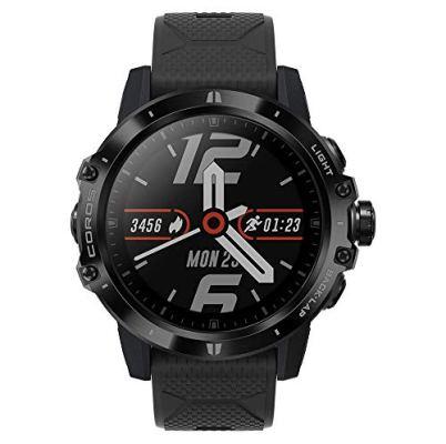 COROS VERTIX GPS Adventure Watch with Heart Rate Monitor, 60h Full GPS Battery, 24/7 Blood Oxygen Monitoring, Sapphire Glass, Barometer, ANT+ & BLE, Strava & Training Peaks (Dark Rock)