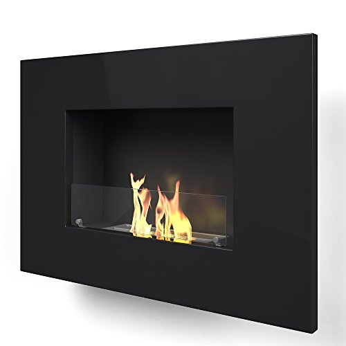 Imagin ARLINFTON-Black Wall Mounted bioethanol Fireplace