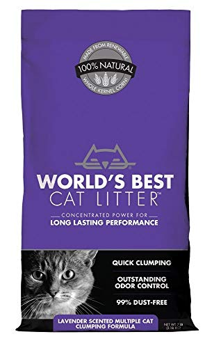 World's Best Cat Litter Extra Strength Lavender 7 lbs