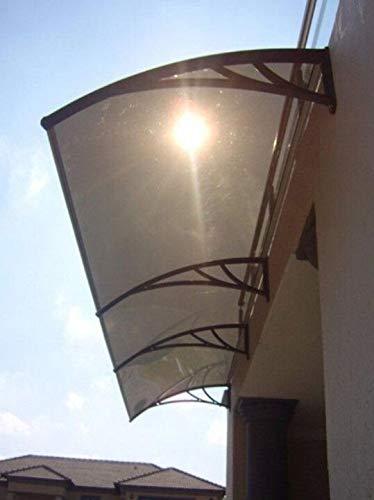 LYA Marquesina Puerta Exterior 100 cm de Profundidad, Anchura 300cm.Toldo plástico Tarjeta de Circuito Impreso con, Muchas colorea Disponible Polycarbonated Cubierta de Dosel