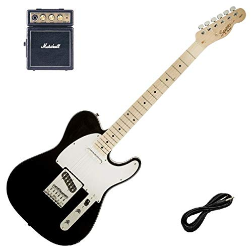Fender Squier Affinty Telecaster Black & Marshall MS-2 Guitar Amp, Lead Package
