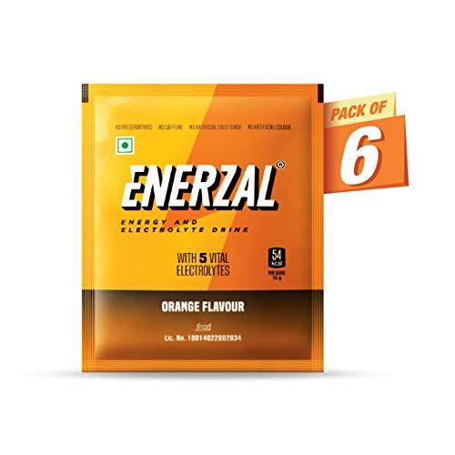 Enerzal Energy Drink Powder Orange Flavour 50 GM (Pack of 6)