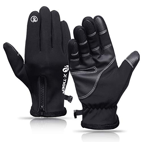 X-TIGER Guanti Invernali Antivento, Touchscreen Guanti Termici per Smartphone, per Moto MTB, Bici...