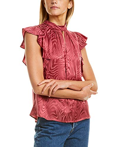 """41pL9sVcoeL. SL500 Hits at low hip 24 1/2"""" inches from high point shoulder 52% Silk, 48% Viscose"""