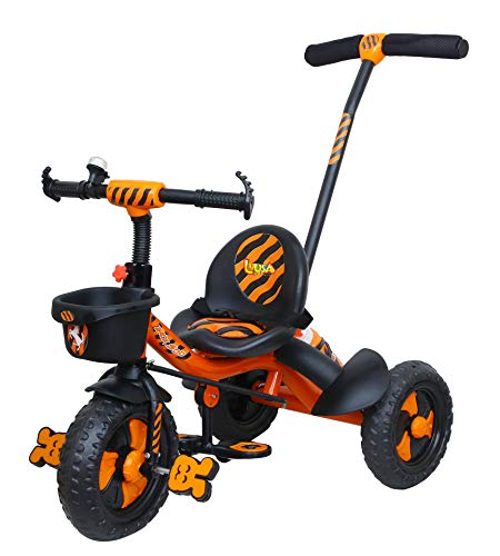 Luusa RX-500 Plug N Play Kids/Baby Tricycle With Parental Control, Cushion Seat And Seat Belt For 12...