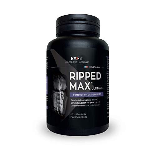 EAFIT Ripped Max Ultimate - Brûleur de Graisses 120 Comprimés - Prog. 1 mois - Oxydation des Graisses - Aide à brûler les Graisses - Améliore le Métabolisme - Marque Française - Certifié Anti-dopage