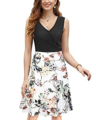 The stretchy fabric and high cotton content make this women summer dress close fitting and very comfortable to wear. Bust: (S)32.5-34.5 inches, (M)34.5-36.5 inches, (L)36.5-38.5 inches, (XL)38.5-41.5 inches, (XXL)41.5-44.5 inches. Features: Sleeveles...