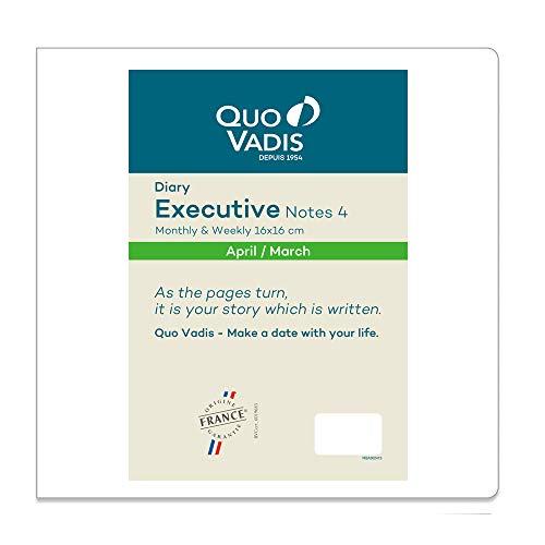 クオバディス 2020年 手帳 4月始まり エグゼクティブノート4/レフィルPE qv602rech-pe