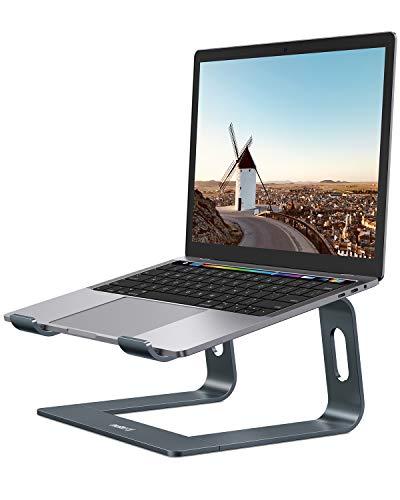 """Laptop Ständer, Nulaxy Ergonomisch Notebook Stand : Universal PC Halter, Halterung, Riser für Dell, HP, Samsung, Lenovo alle 10\""""~15.6\"""" Notebooks - Grau (Grau)"""