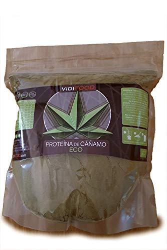 Bio Hanf Proteinpulver| 1kg | Aufbau von Muskelmasse & Energiezufuhr | 46% Protein & 35% Fettsäuren (Omega 3, 6 und 9) | Für Veganer geeignet | Geschmacksneutral